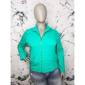 Alia Green Jean Jacket Women Plus Size 16